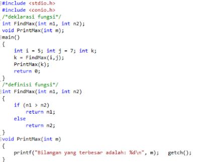 FUNGSI - Jenis Fungsi Dalam C