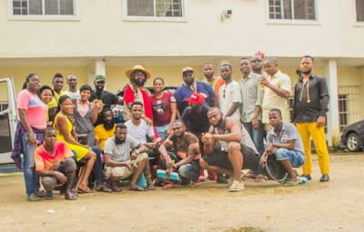 Paulcy Nnamdi Iwuala, Bugzy Dvinci, Arbenco Aigbe and others, debut in Onyeka Nwelue?s Igbo Language film, ?Agwaetiti Obi?t??: Watch ?Behind the Scenes? video and pictures