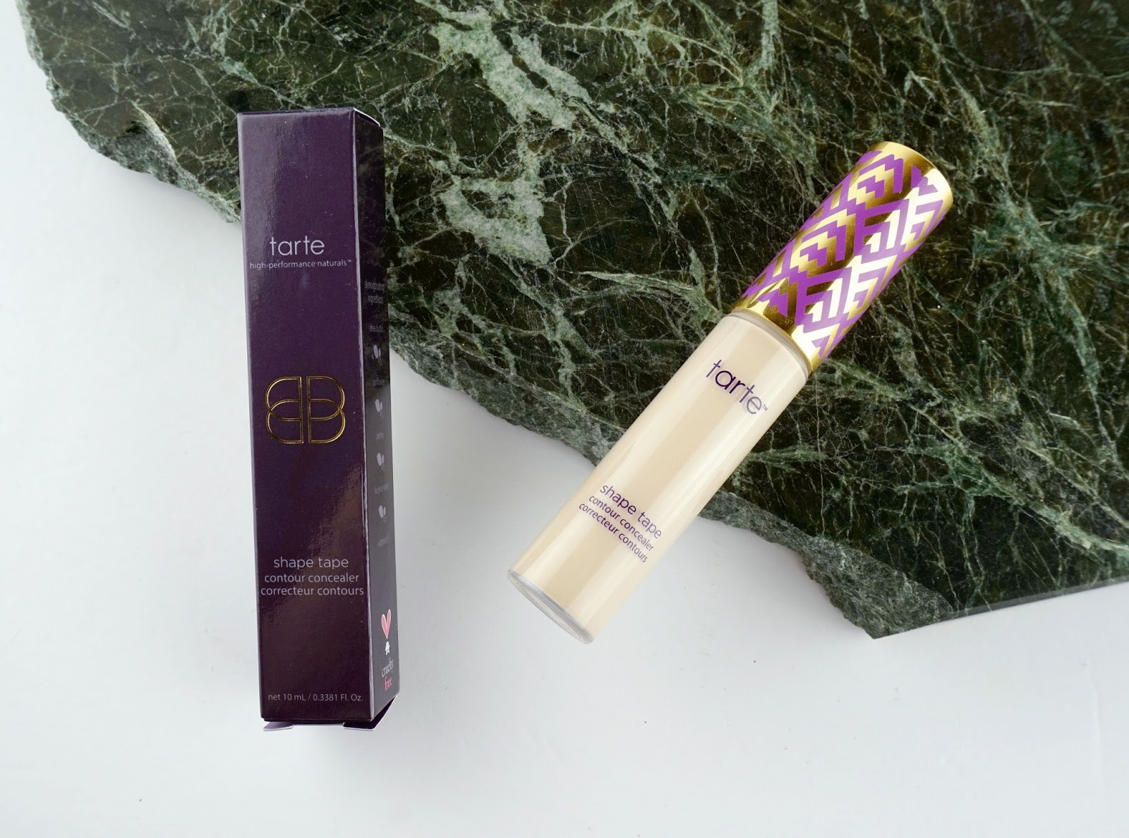 Tarte Shape Tape Contour Concealer fair Review Comparison Swatches Before and After