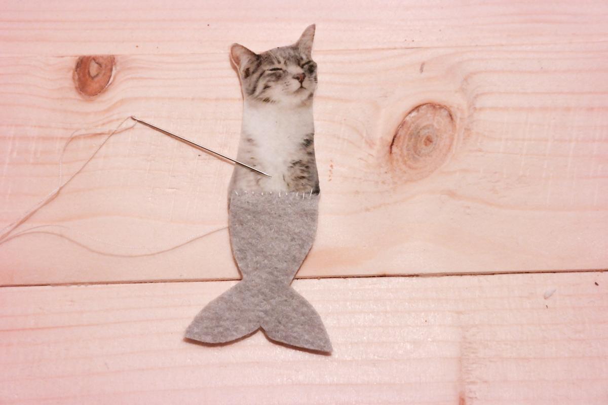 Meerjungfrau-Katze selber machen 5