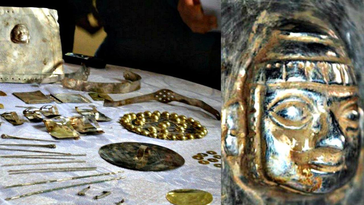 Importante descubrimiento de diversas piezas de oro y plata en Cutervo, Cajamarca, Perú