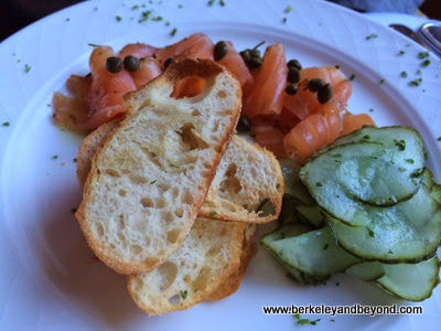 house-cured salmon at Cafe Provence at Peterson Village Inn in Solvang, California