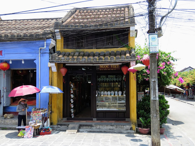 A historic storefront in Hoi An Vietnam