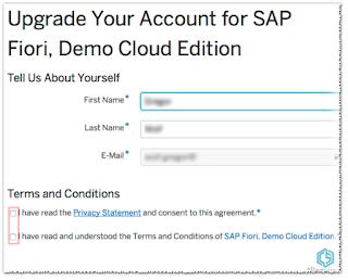 Upgrade account to SAP Fiori Demo
