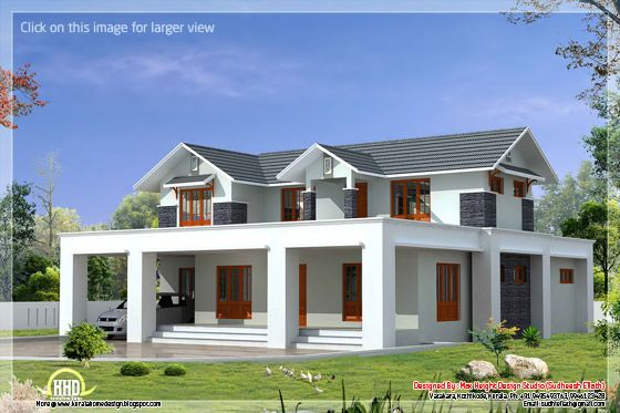 Flat roof mix sloping home design