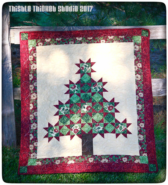 Thistle Thicket Studio, Jodi Barrows, Square In A Square, All Spruced Up, free quilt pattern,