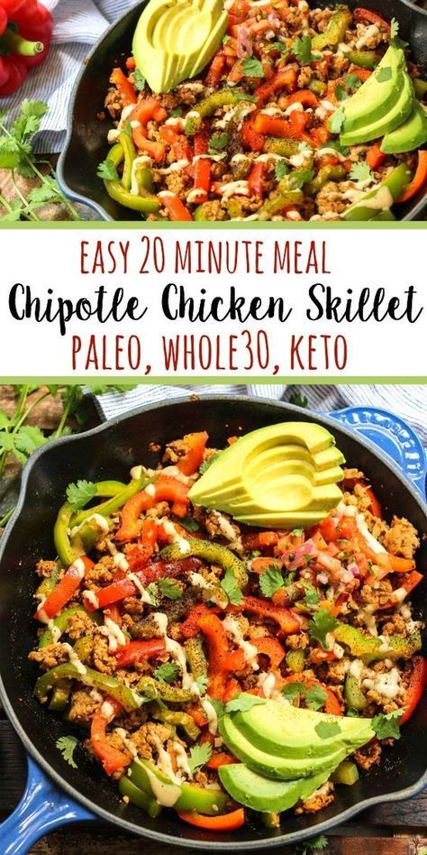 Whole30 Chipotle Chicken Skillet (Paleo, Keto, GF)