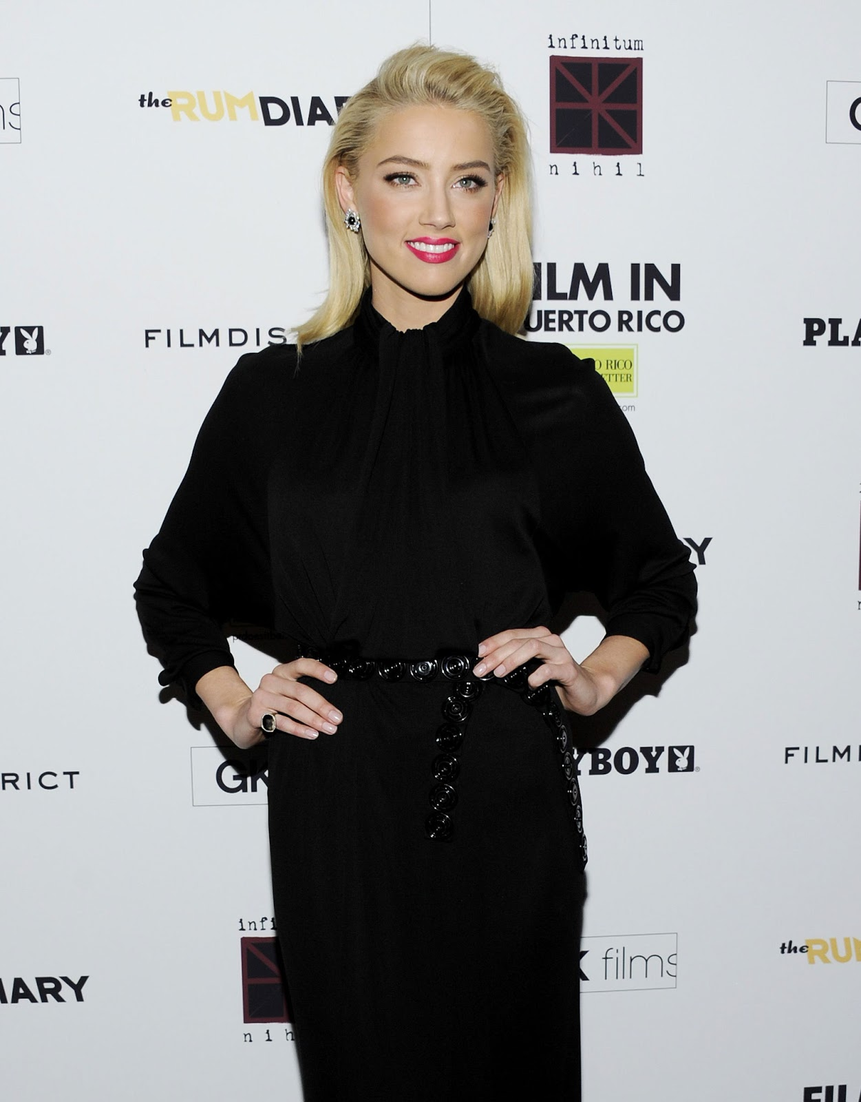 Amber Heard at The Rum Diary Premiere