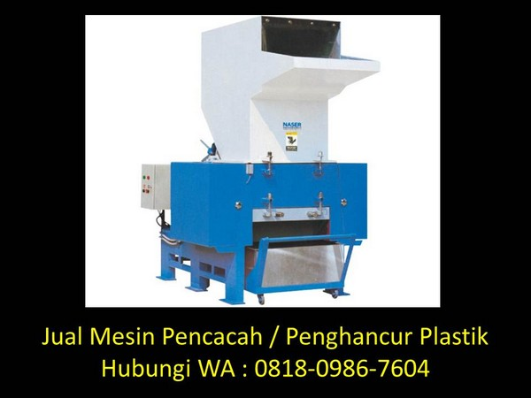 rancangan mesin pencacah plastik di bandung