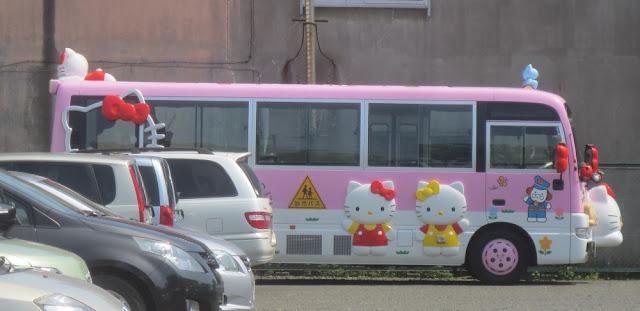 Kushiro - Bus mit Hello Kitty