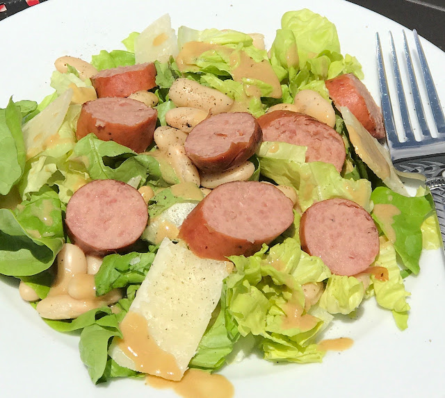 Grilled Kielbasa and Warm Vinaigrette Salad