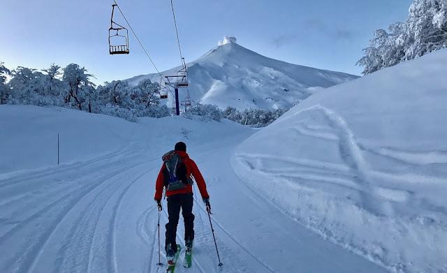 Esqui no Vulcão Villarrica em Pucón