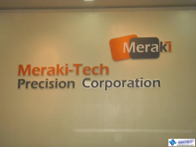 Reception Acrylic Letter Signage - Meraki
