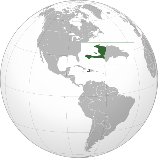 Letak negara Haiti
