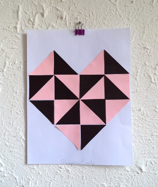 DIY Geometric Heart Wall Art