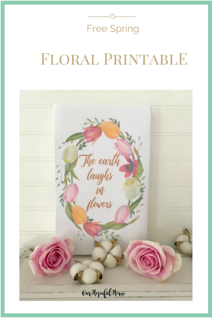floral spring printable wreath the earth laughs in flowers