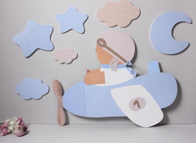 silueta  de decoración infantil para habitaciones bonitas