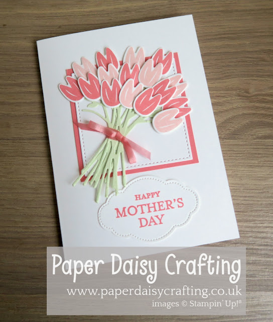 Beautiful bouquet tulip Stampin Up