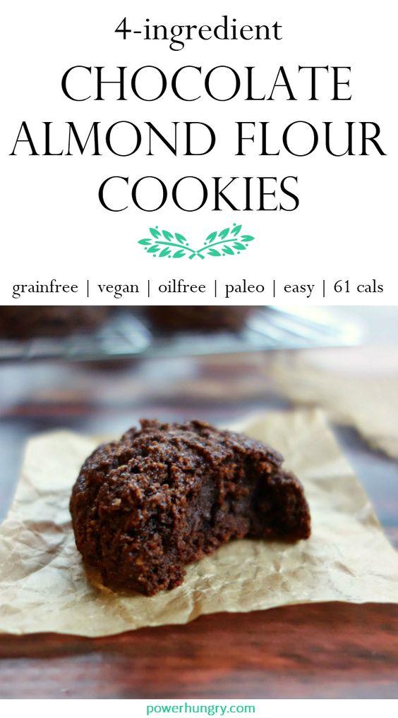 Chocolate Almond Flour Cookies {Grainfree, Vegan, Paleo}