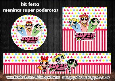 Kit Festa digital Meninas Super Poderosas