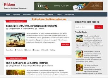 Ribbon Blogspot Blogger Template Theme