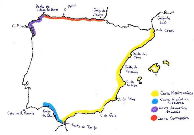 Resultado de imagen de costas españolas