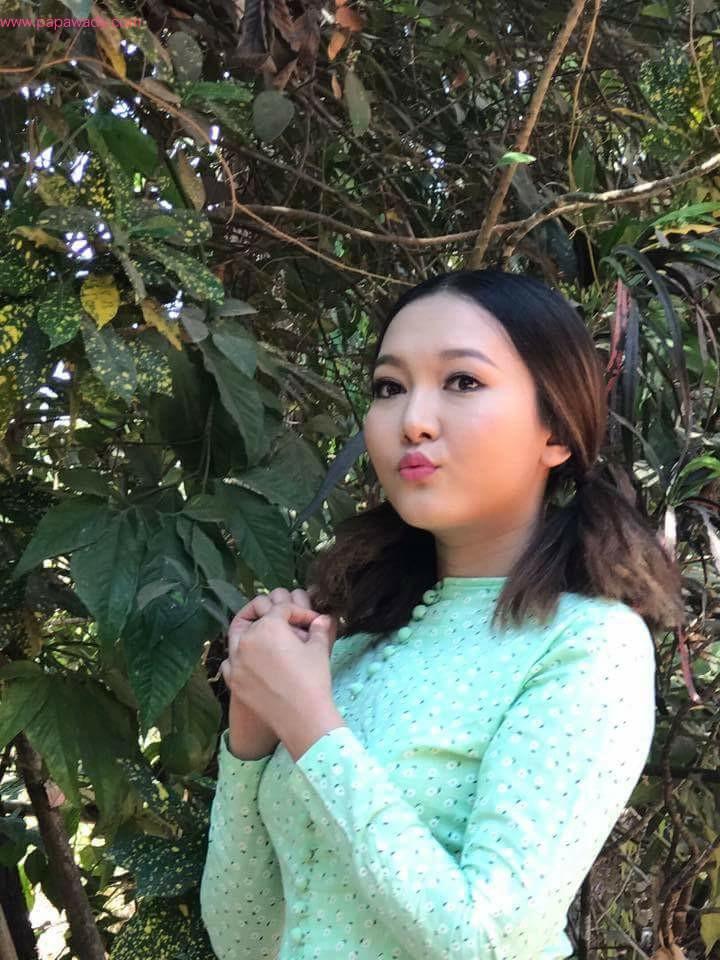 Cute Celebrity Wint Yamone Hlaing In Myanmar Dress
