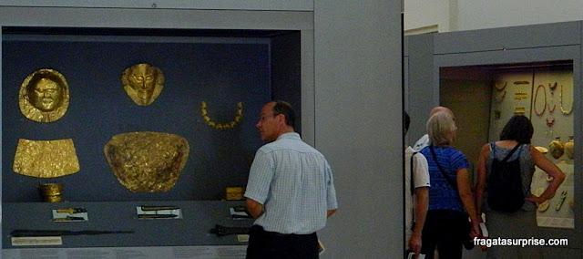 O Tesouro de Atreu no Museu Nacional de Arqueologia de Atenas, Grécia