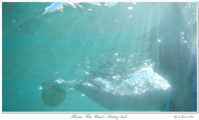 Mauna Kea Beach: Sinking back