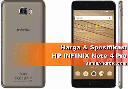 Harga HP Infinix Note 4 Pro 2020 updated