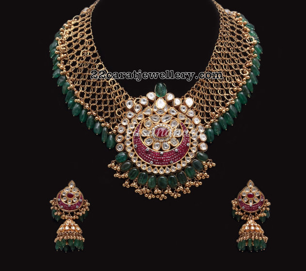 Antique Mesh Necklace by Vasundhara Fine Jewellery