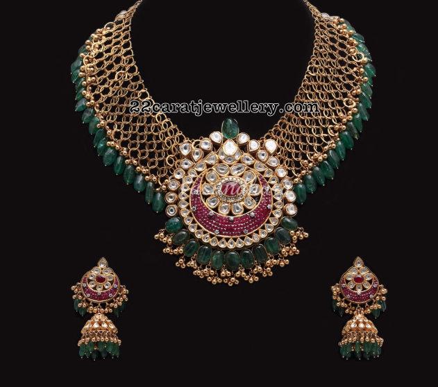 Antique Mesh Necklace by Vasundhara Fine Jewellery