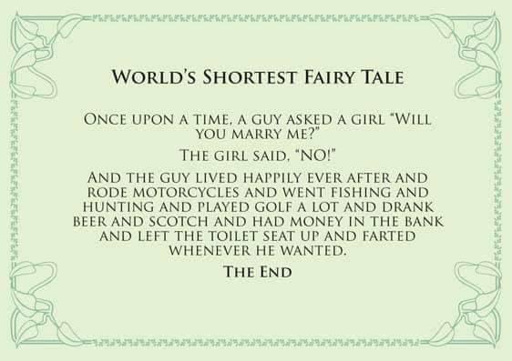 Worlds shortest fairy tale  www.jokes.com