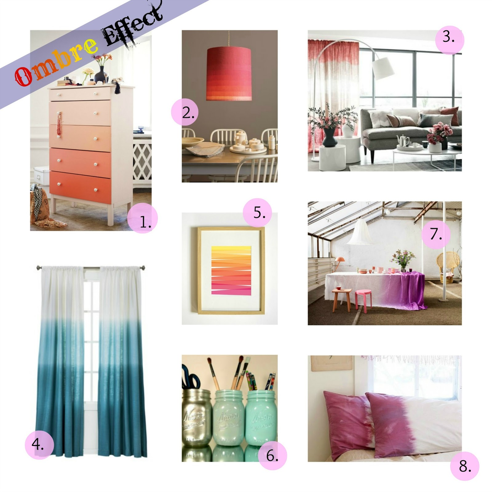 Green Ombre Walls With Orange Sunset Accent Wall: The Bougie Life: Design Trend- OMBRE WALLS