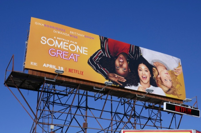 Someone Great Netflix film billboard