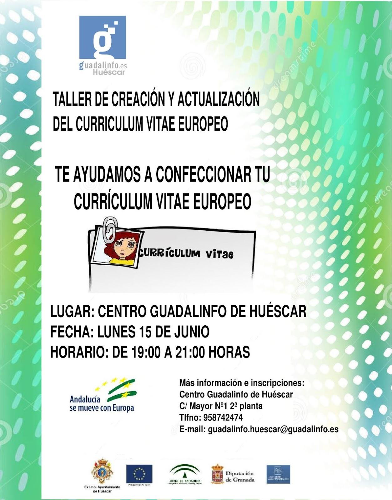 CENTRO GUADALINFO DE HUESCAR: TALLER DE CREACIÓN DE CURRICULUM VITAE ...