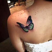 tatuaje de mariposa realista