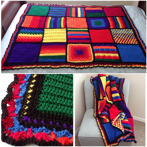 Beautiful Skills Crochet Knitting Quilting Checkerboard Textures