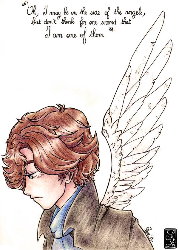 I may be on the side of the angels... - Je suis peut-être du côté des anges...