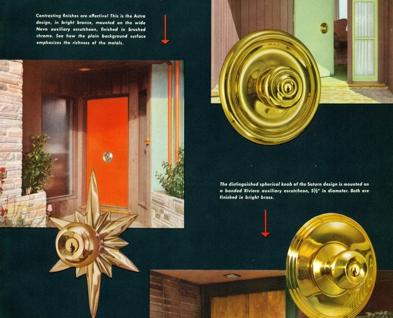 Mad for Mid-Century: Mid-Century Door Knob Advertisement