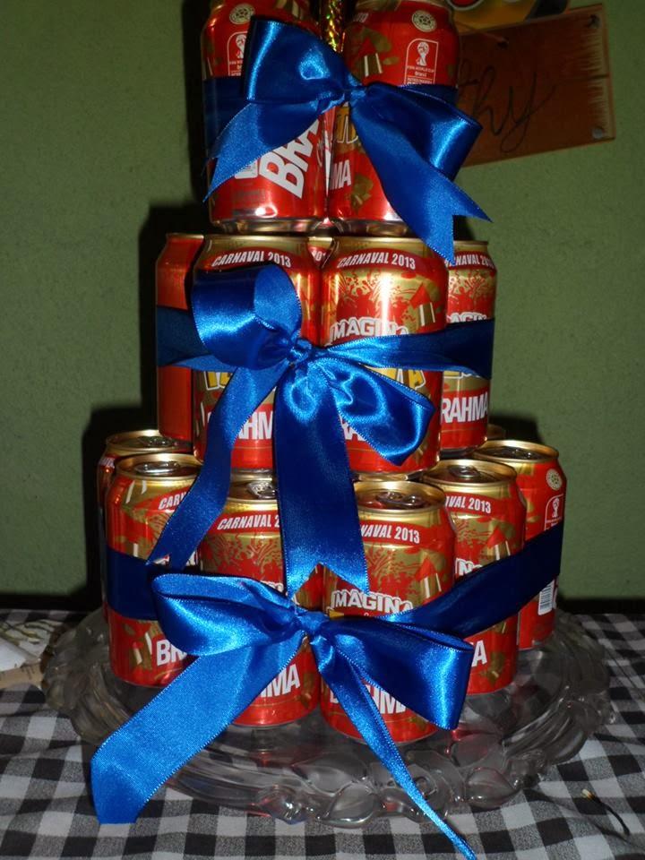 Resultado de imagem para bolo de boteco latinha