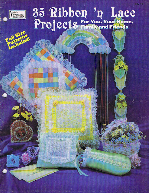 35 Ribbons n Lace Projects Craft Book 1983