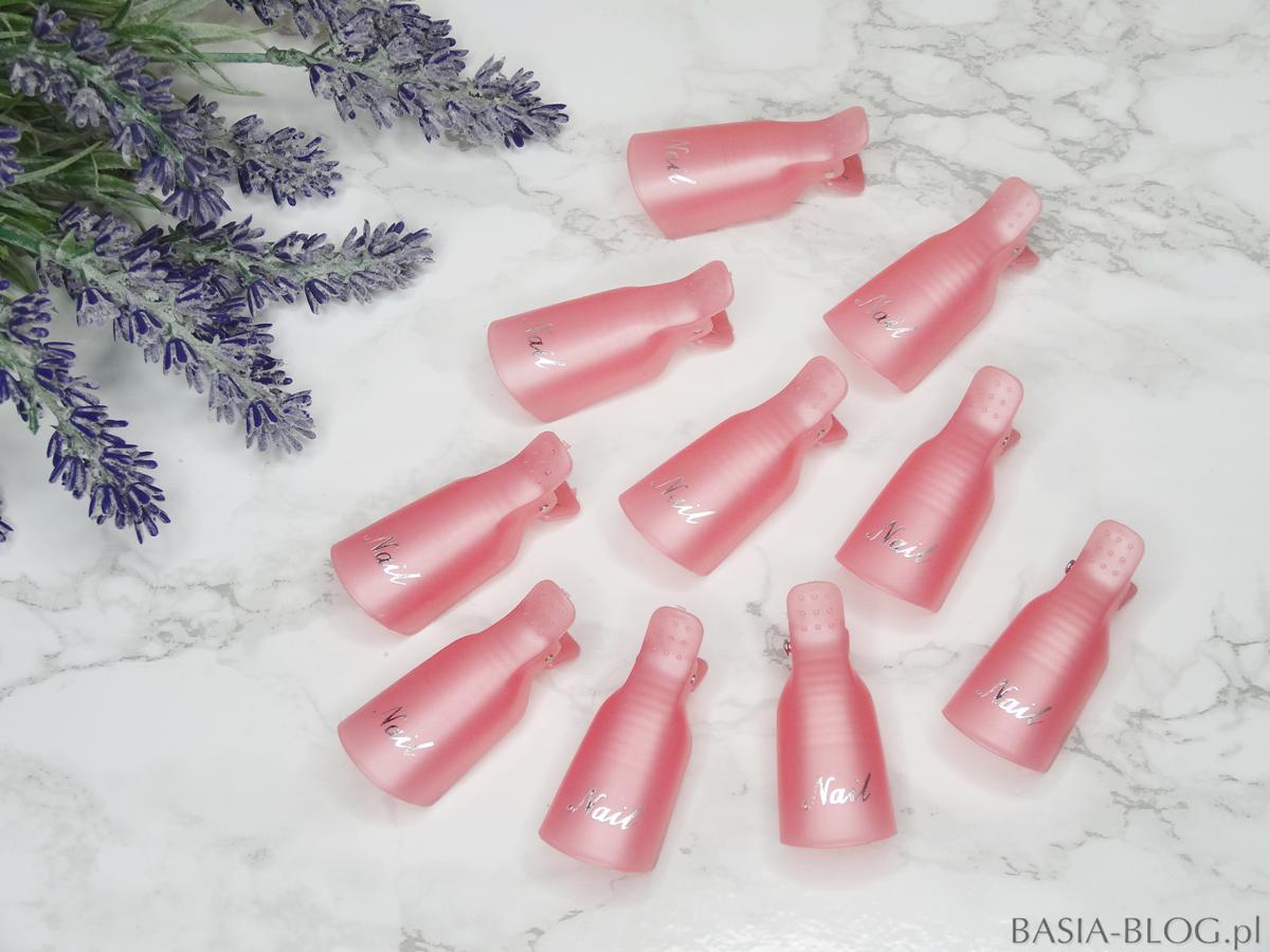 Klipsy do zdejmowania hybryd AliExpress nail gel remover clips