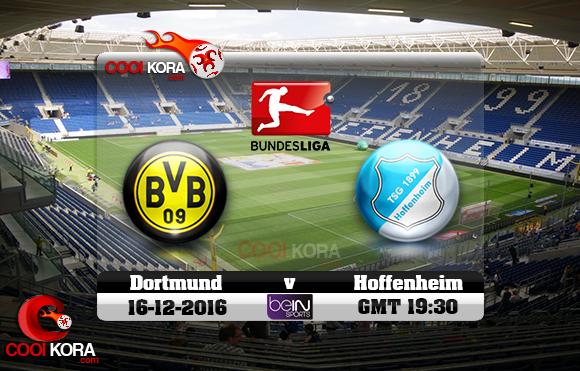 مشاهدة مباراة هوفنهايم وبروسيا دورتموند اليوم 16-12-2016 في الدوري الألماني