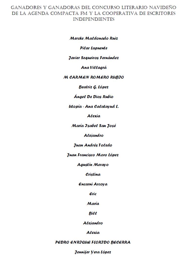 En cualquier caso, sí que ha habido un huracán de premios, y por eso aquí os  paso la lista con los ganadores: