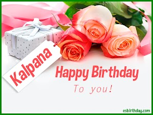 Happy Birthday Kalpana