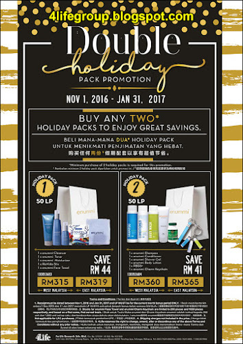 foto Double Holiday Pack Promotion 2016 4Life Malaysia