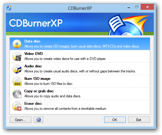 تحميل برنامج حرق الاسطوانات مجانا بورتبال Portable CDBurnerXP 4.5