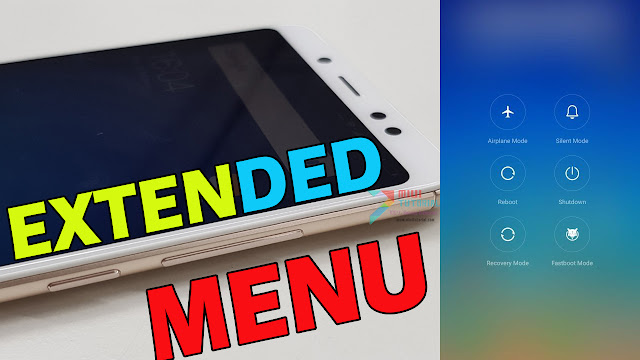 Cara Termudah Menambahkan Menu Tambahan di Power Menu Xiaomi Redmi Note 5 PRO