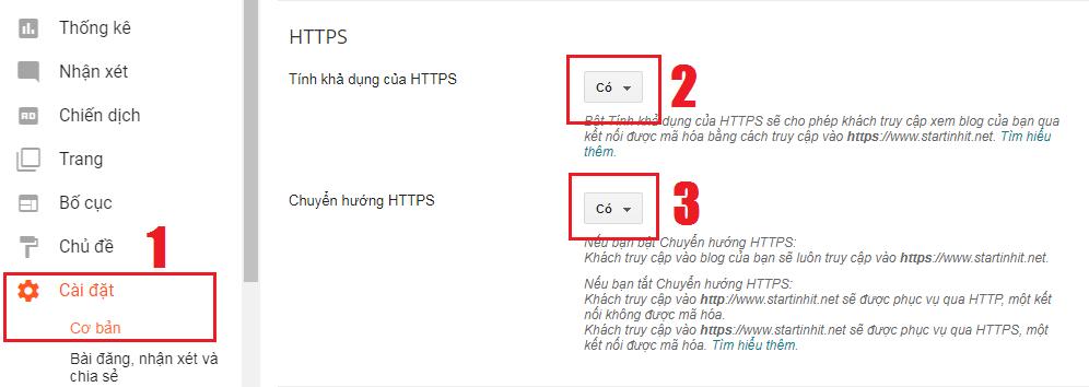Hướng dẫn cài đặt HTTPS/SSL cho tên miền tùy chỉnh Blogger/Blogspot chuẩn Google